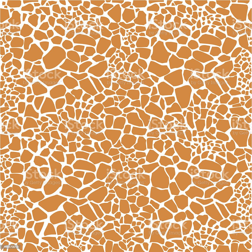 Giraffe skin seamless pattern royalty-free stock vector art