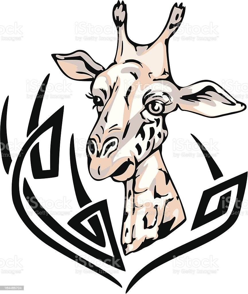 giraffe tattoo royalty-free stock vector art