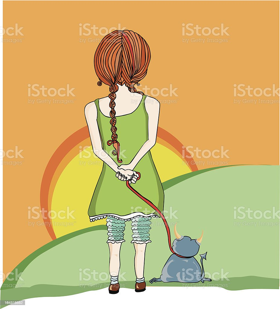 girl and demon pet royalty-free girl and demon pet stock vector art & more images of adult