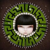 Girl and maze