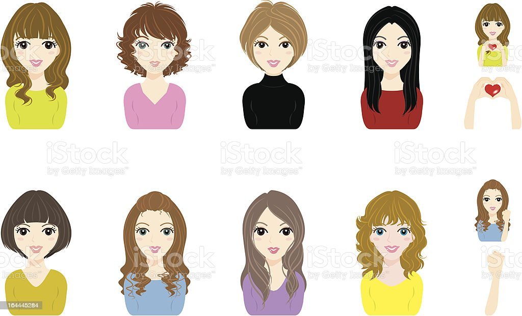 Girl / Face royalty-free stock vector art