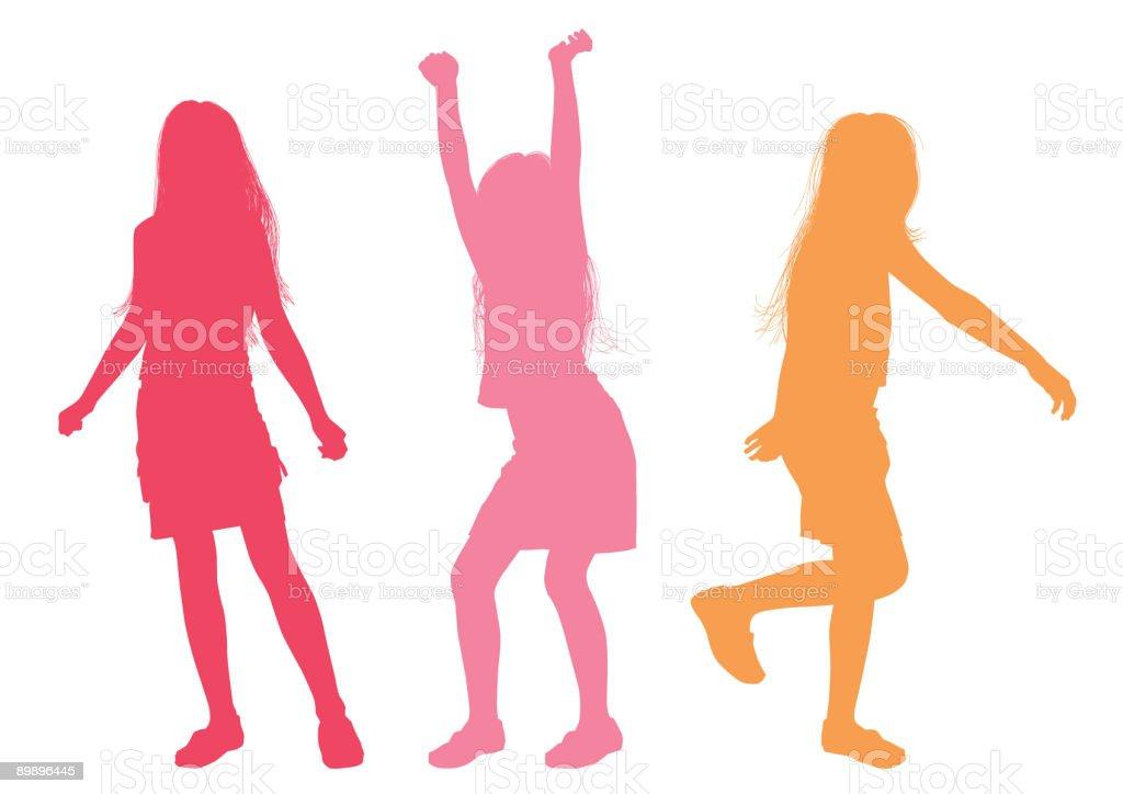 Девушка, Девушка — стоковая векторная графика и другие изображения на тему Веселье Стоковая фотография