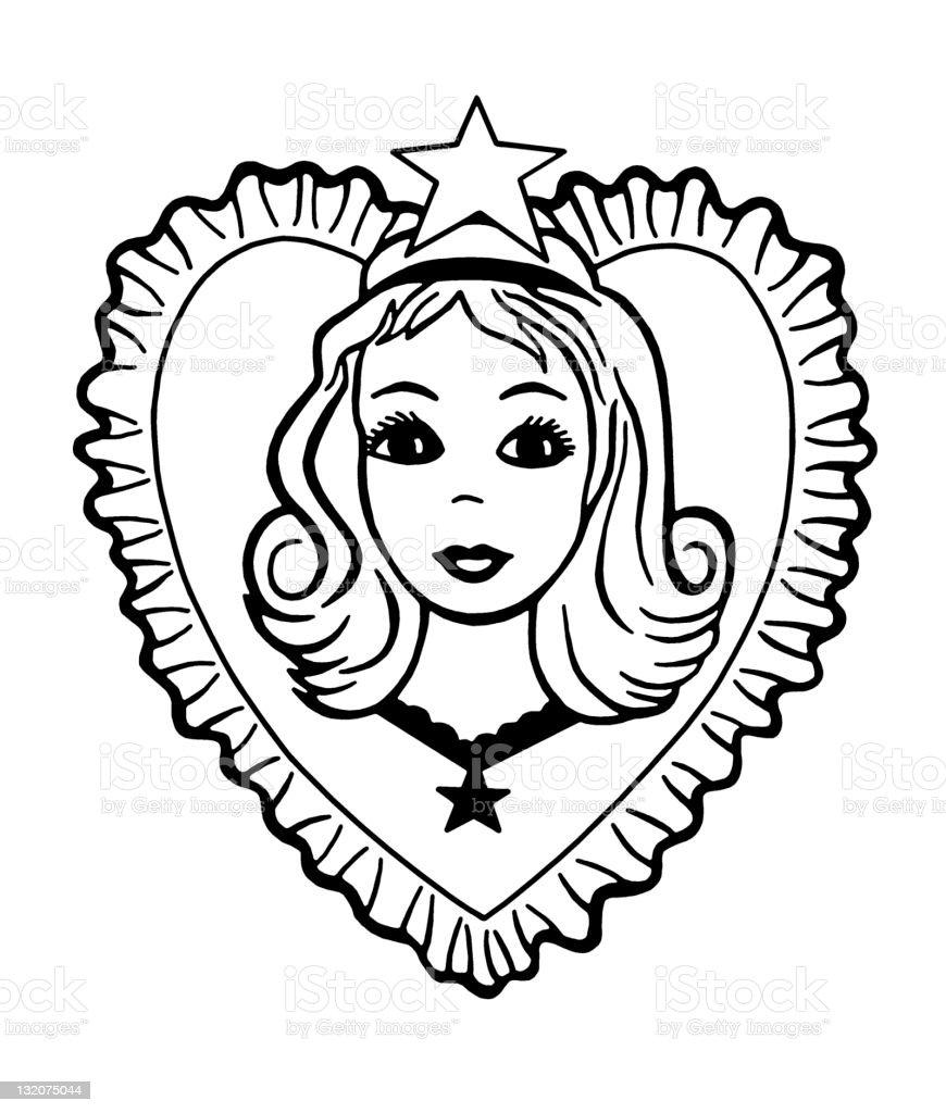 Girl Inside Heart royalty-free girl inside heart stock vector art & more images of affectionate