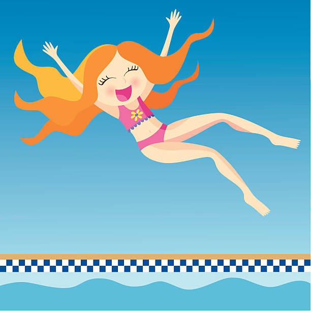 Royalty Free Jumping Into Pool Clip Art, Vector Images