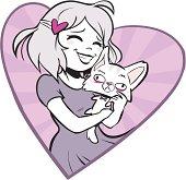 Girl Loves Cat