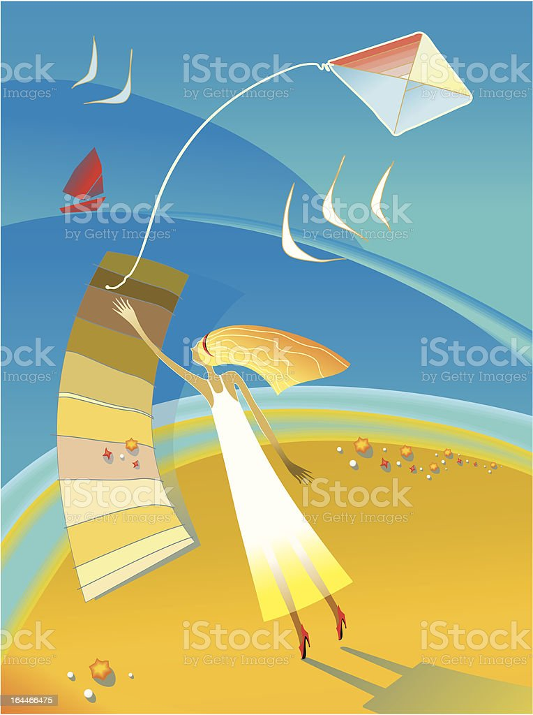 girl on seacoast royalty-free girl on seacoast stock vector art & more images of adolescence