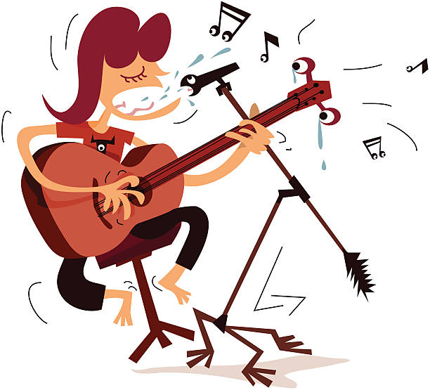 Royalty Free Girl Singing Clip Art, Vector Images