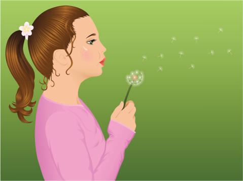 Girl with dandelion.