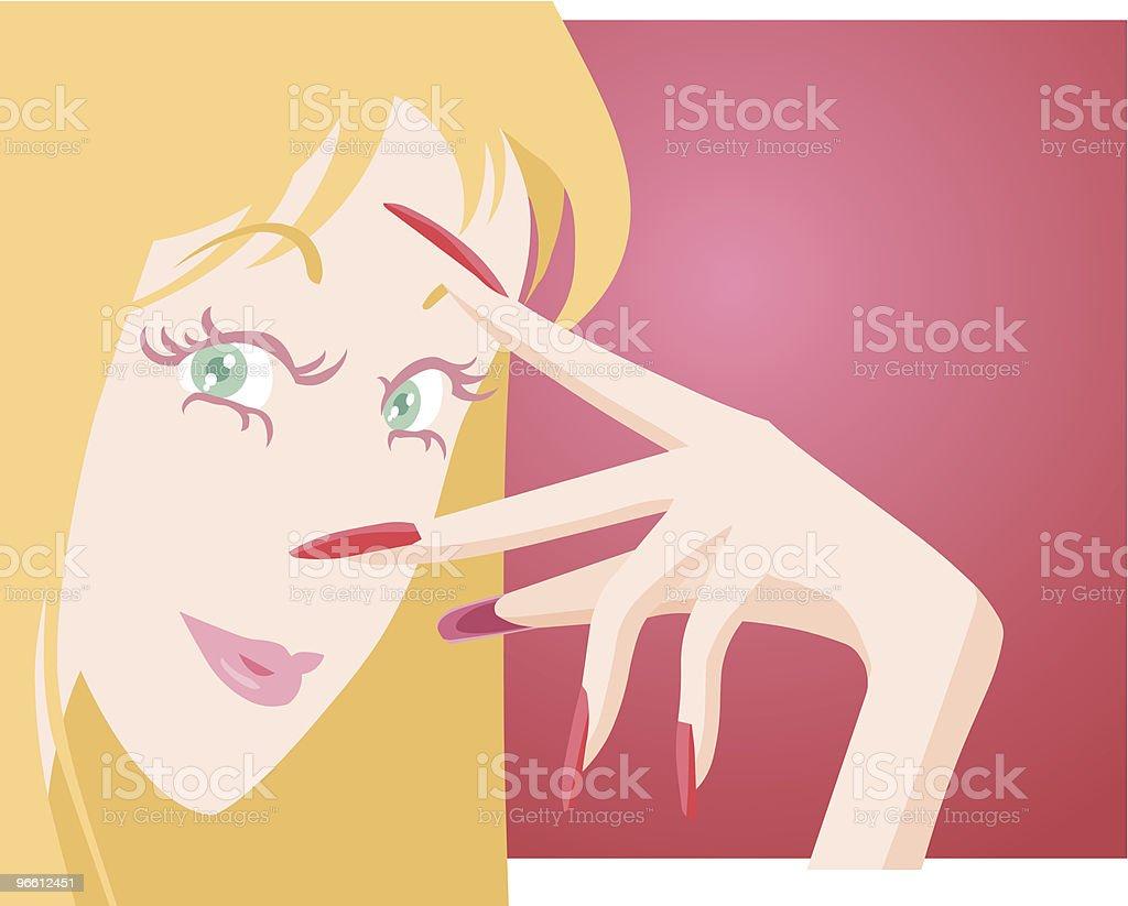 Девушка с ухоженными ногтей - Векторная графика Векторная графика роялти-фри