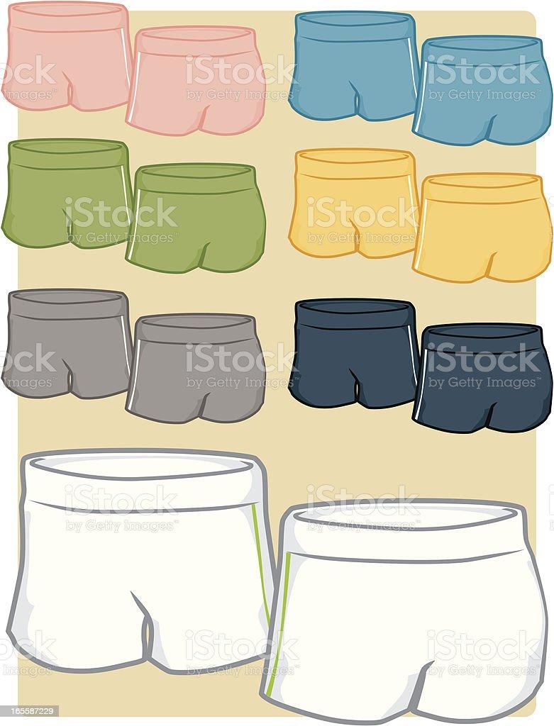 Girl's Shorts vector art illustration