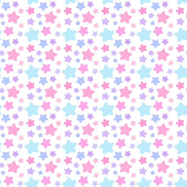 Girly shade star pattern seamless pattern vector art illustration