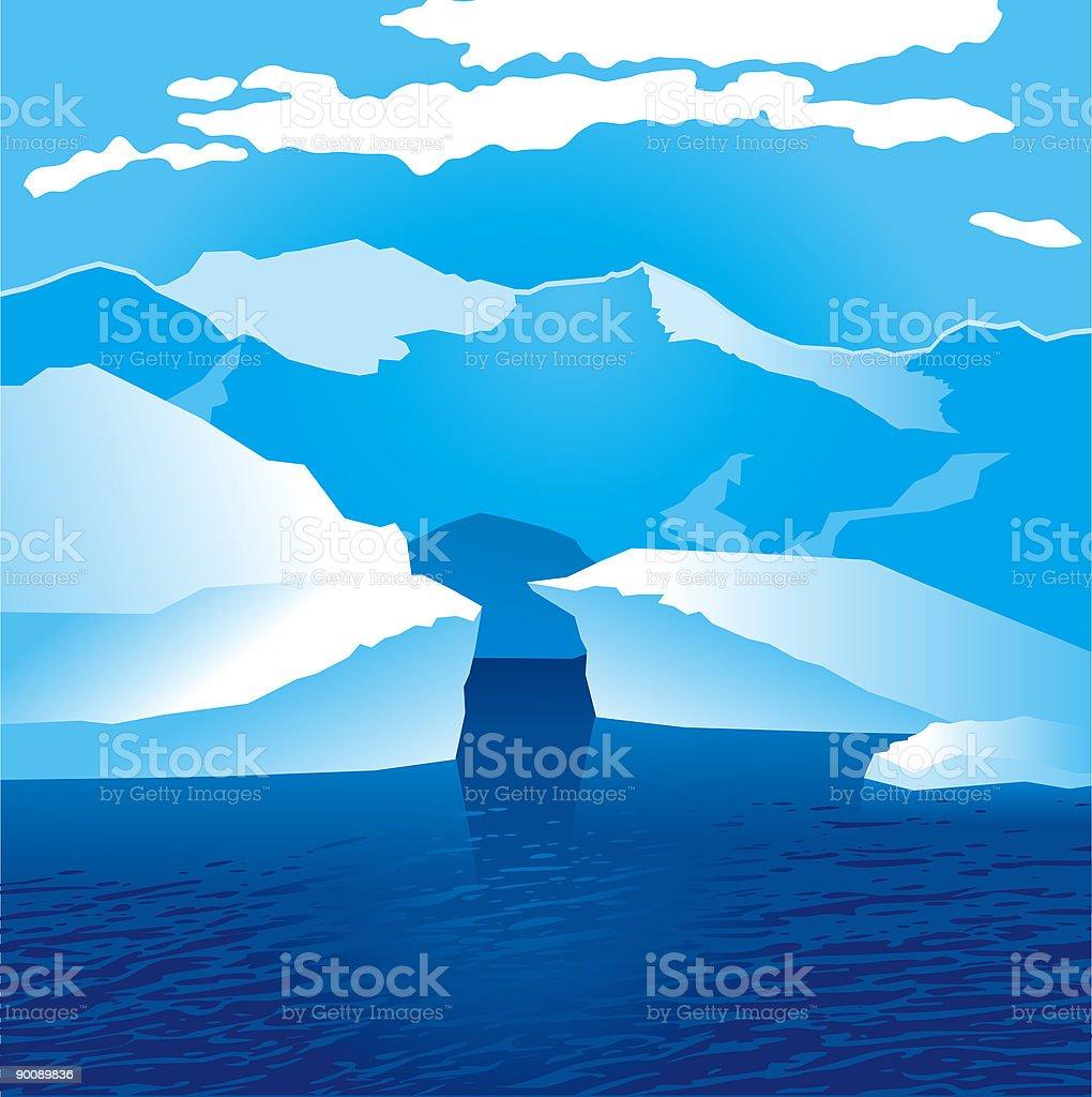 glacier vector art illustration