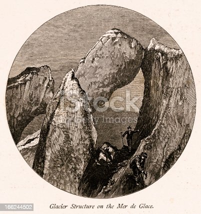 istock Glacier structure on the Mer de Glace, High Alps 166244502