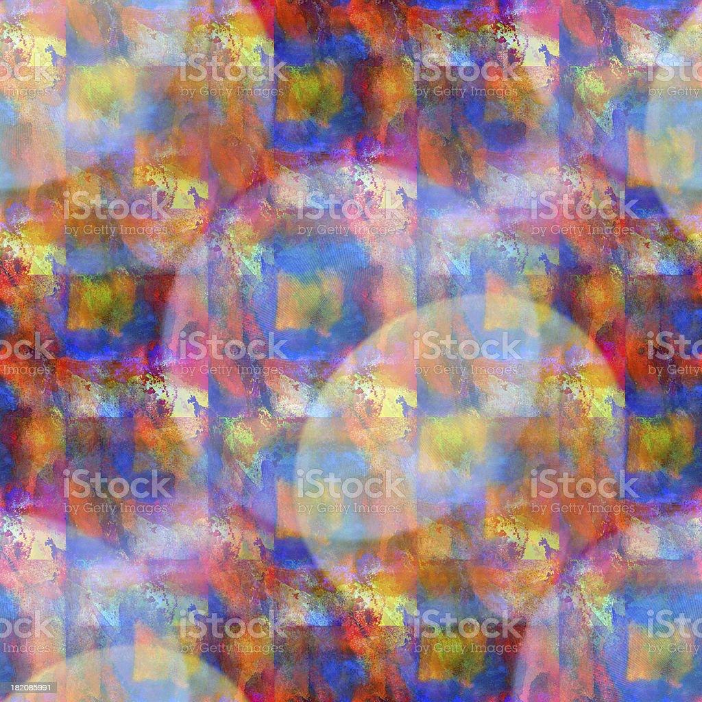 éblouissement De Peinture Sans Couture Aquarelle Orange Rouge Bleu