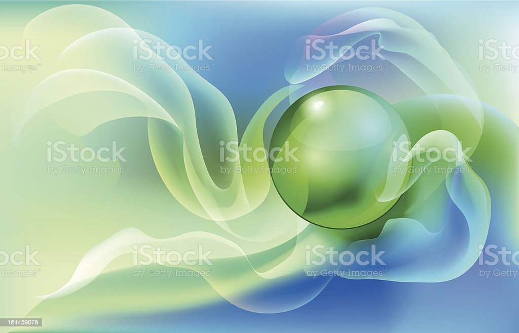 Glass ball. royalty-free stock vector art