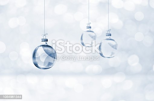Glass Transparent Christmas Ornaments