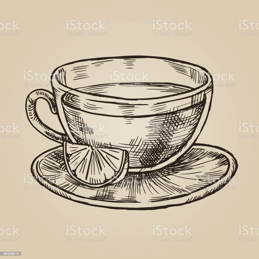 Glass cup with lemon sketch. royalty-free glass cup with lemon sketch stock vector art & more images of archival