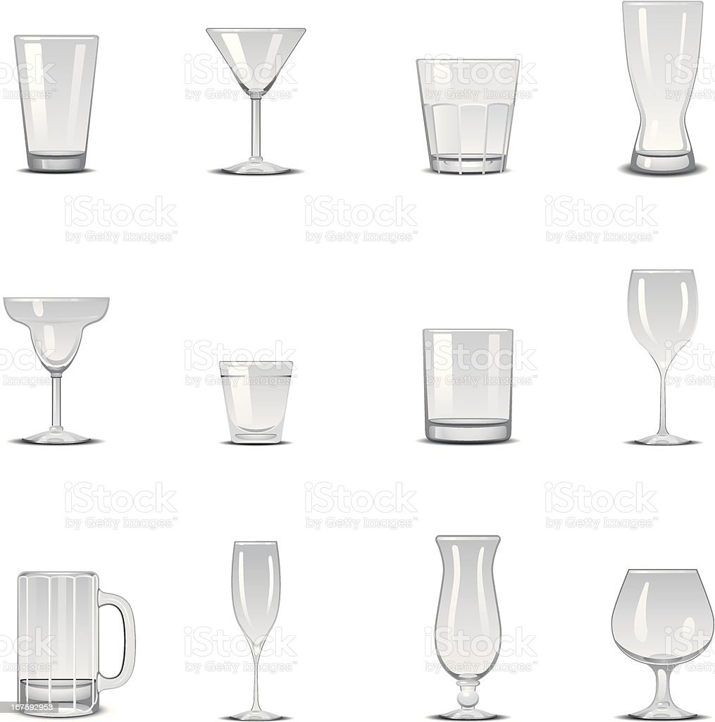 Glass Icons vector art illustration