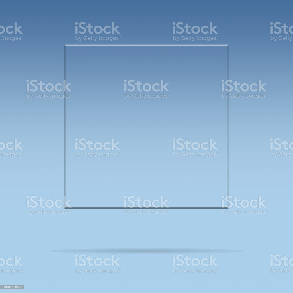 Glass plate with copy space vector art illustration
