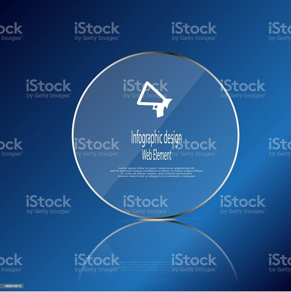 Glas Ringvorlage Elemente Auf Blauem Hintergrund Vektor Illustration ...