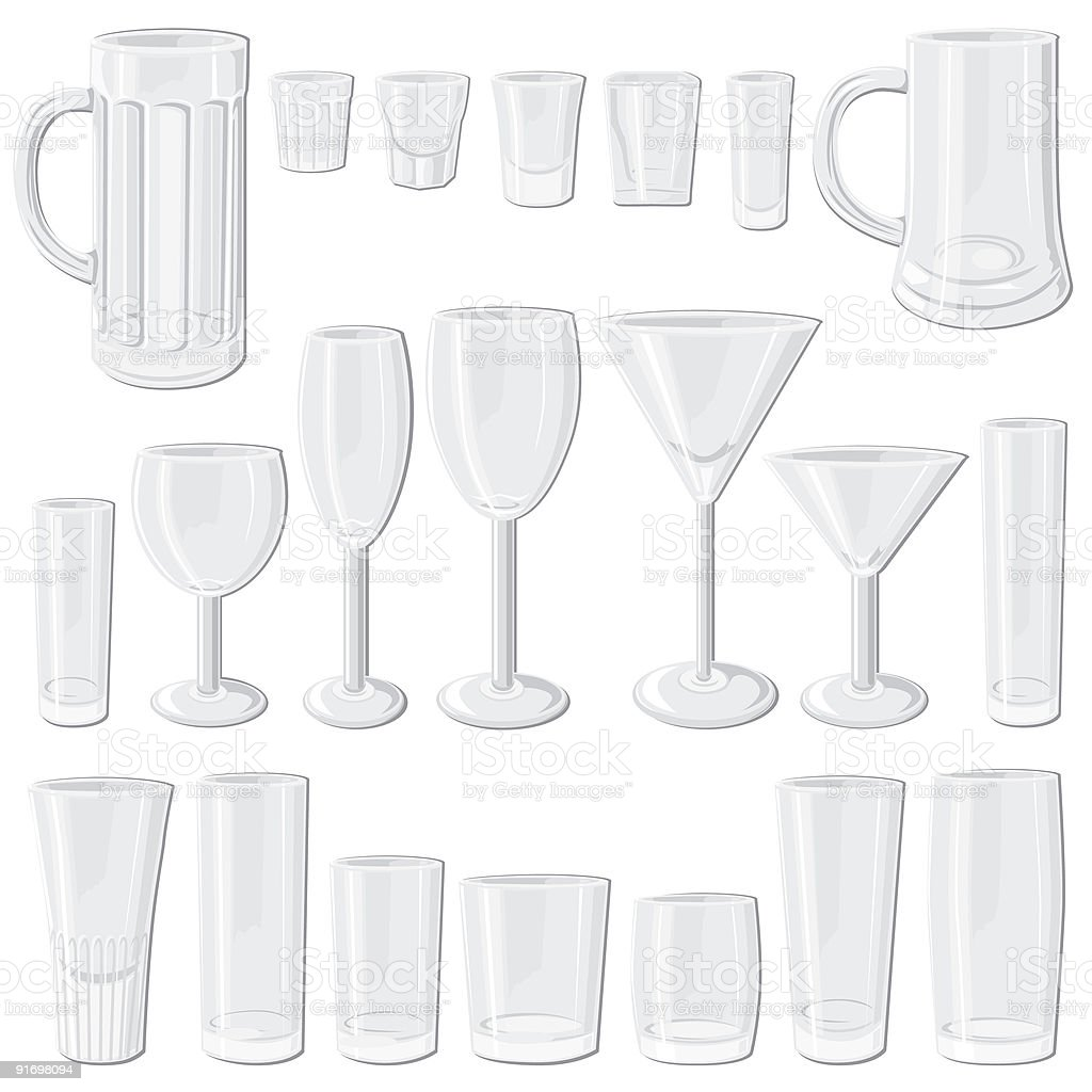 Glass set royalty-free glass set stock vector art & more images of alcohol