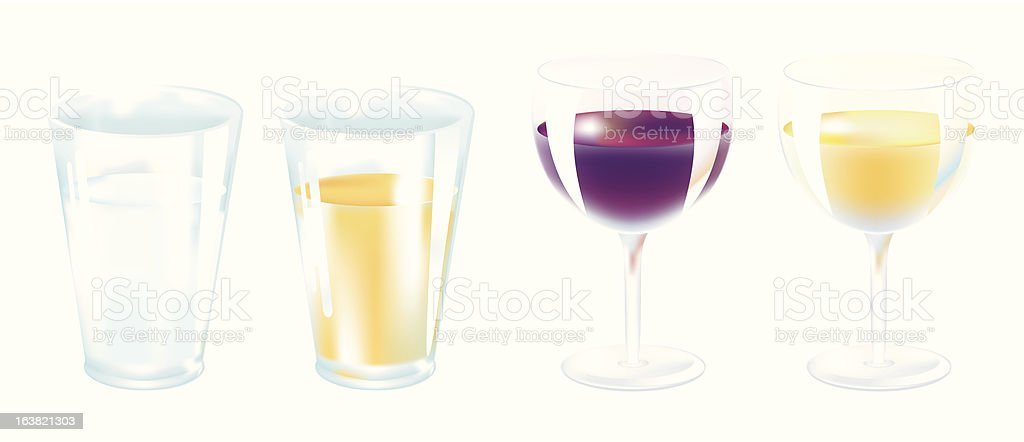 glasses royalty-free glasses stock vector art & more images of drinking