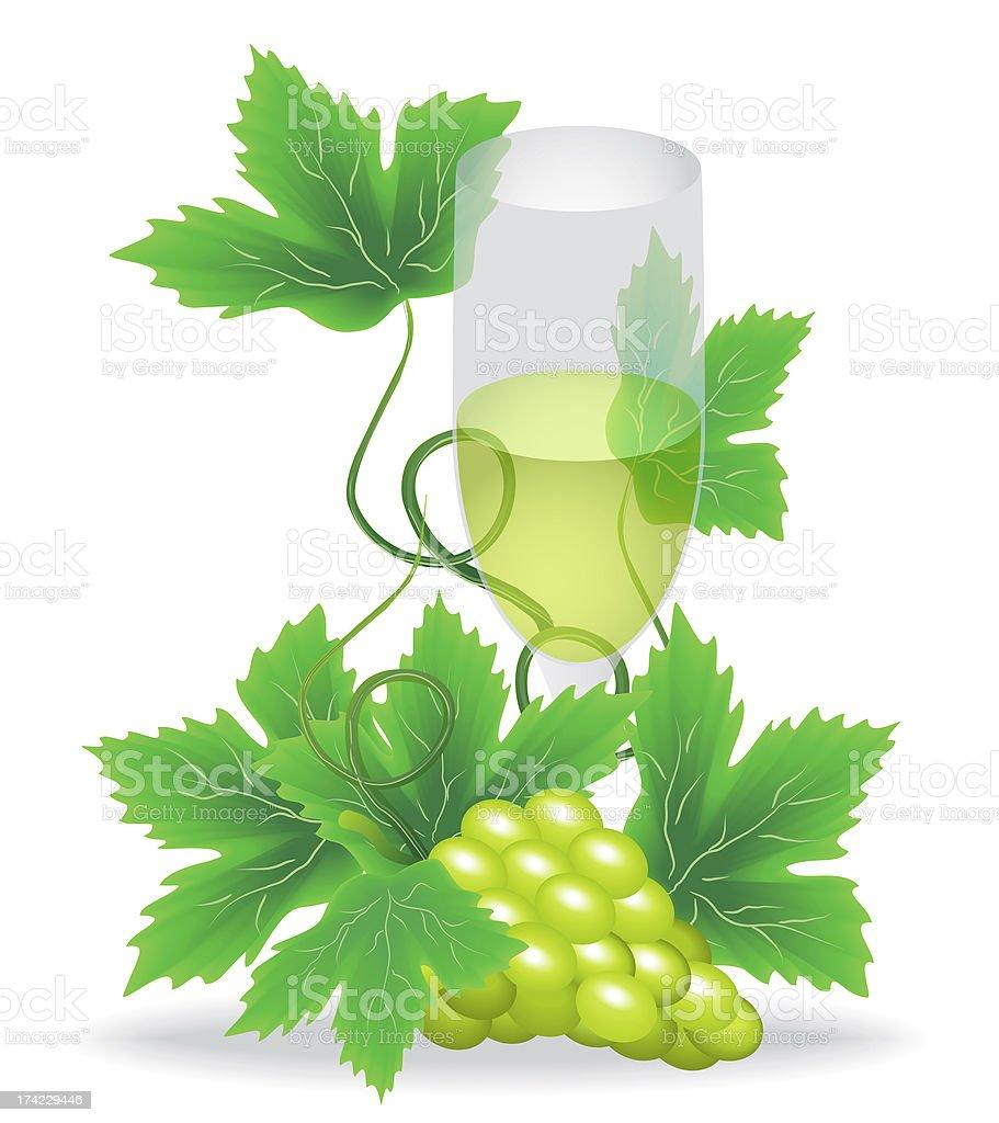 glasses of white wine royalty-free stock vector art