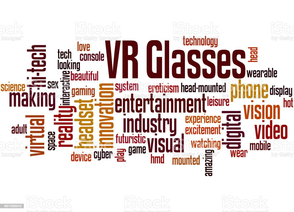 VR Glasses, word cloud concept 3 royalty-free vr glasses word cloud concept 3 stock vector art & more images of adult