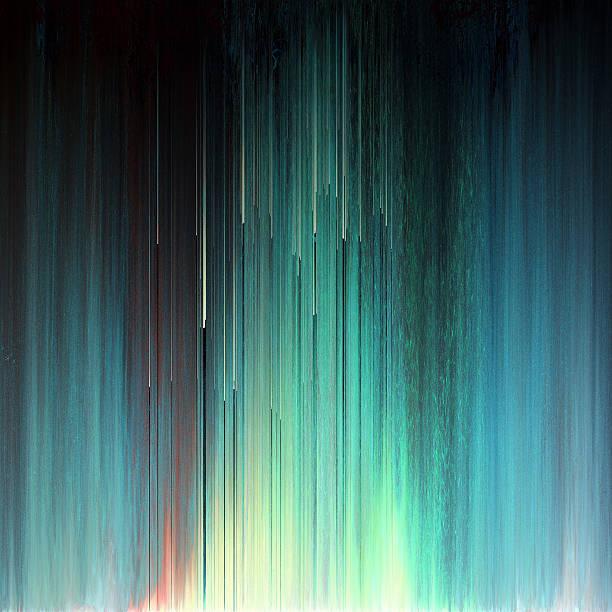 Falha arte Pixel textura abstrato luzes do norte - ilustração de arte em vetor