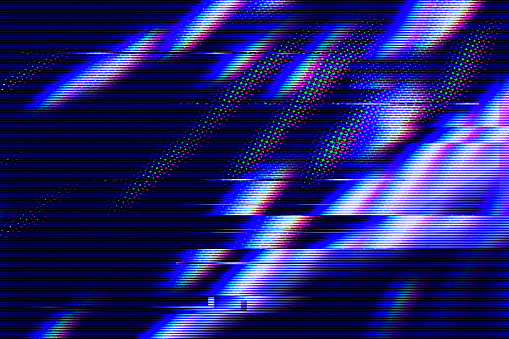 Glitch interlaced textured futuristic background