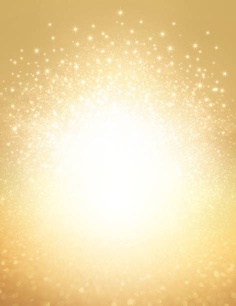 glitter gold explosion background - anniversary backgrounds stock illustrations