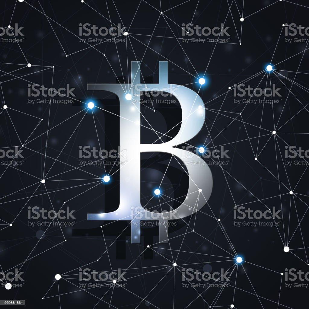 Global Bitcoin Network vector art illustration