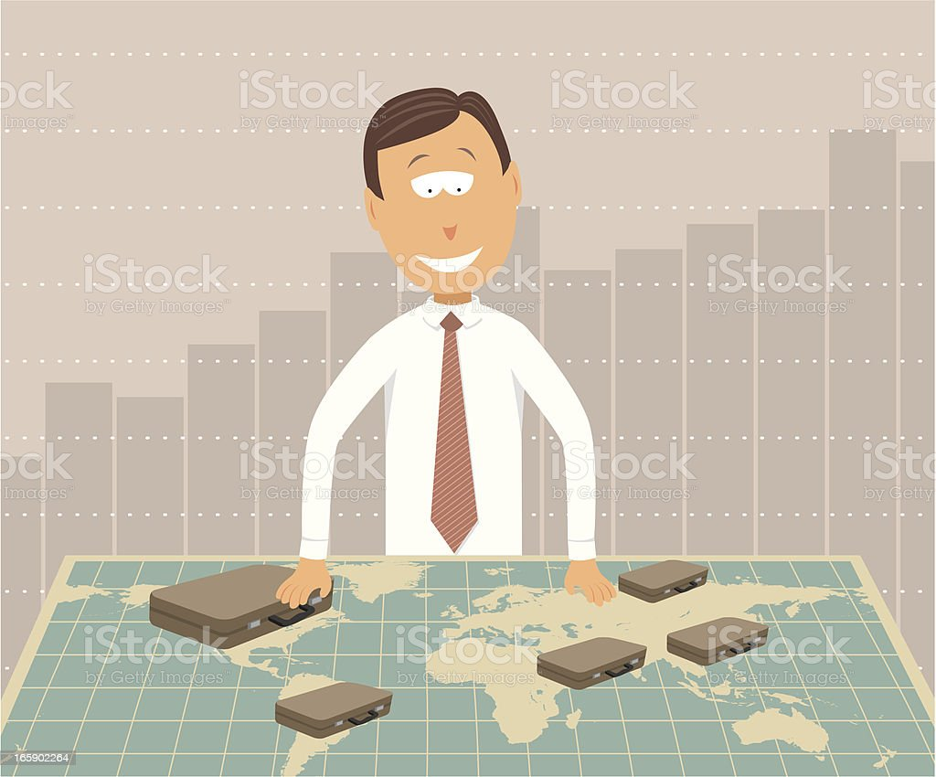 Global Business / Worldwide Investments royalty-free stock vector art