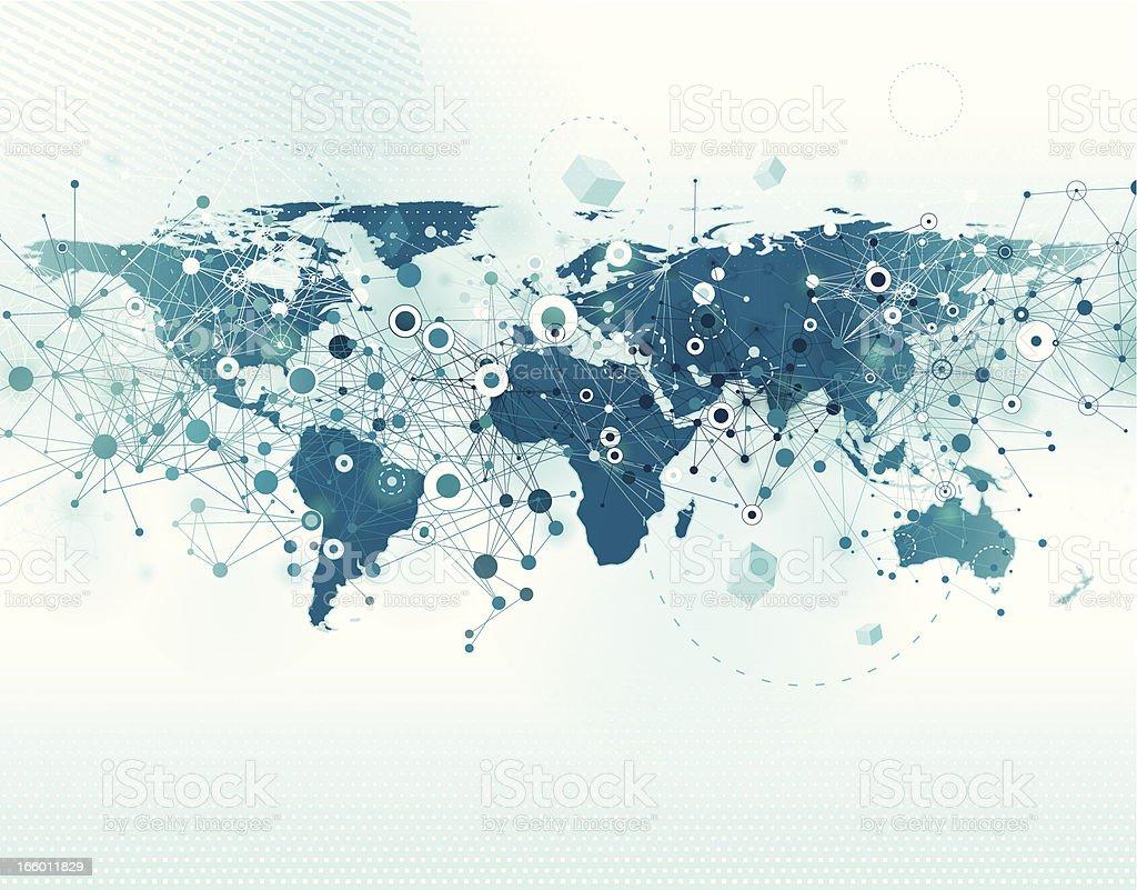Global Communication Background vector art illustration