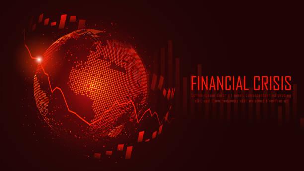 Grafisches Konzept der globalen Finanzkrise – Vektorgrafik