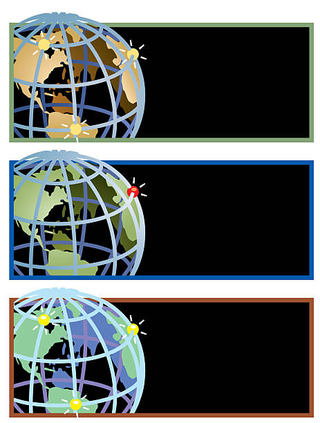 global hotspots.eps vector art illustration