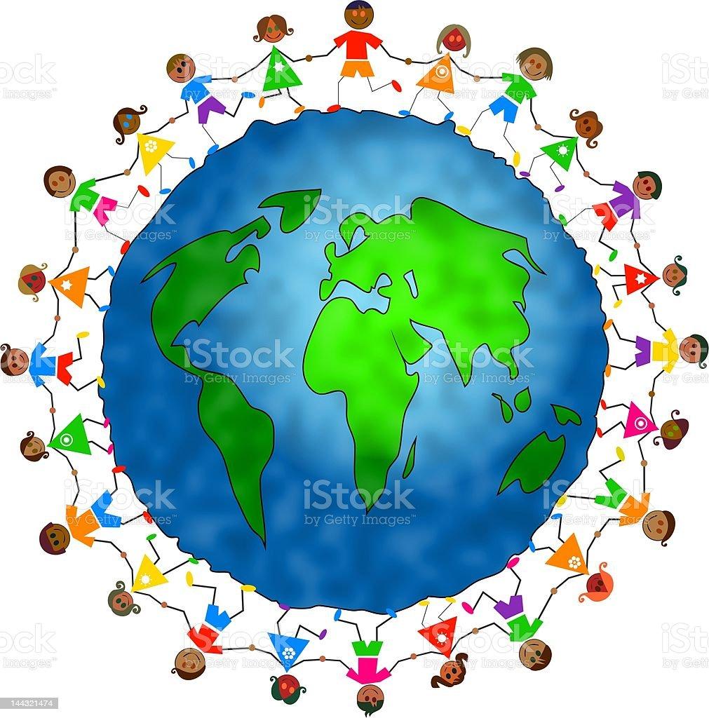 Global Kids - Illustration vectorielle