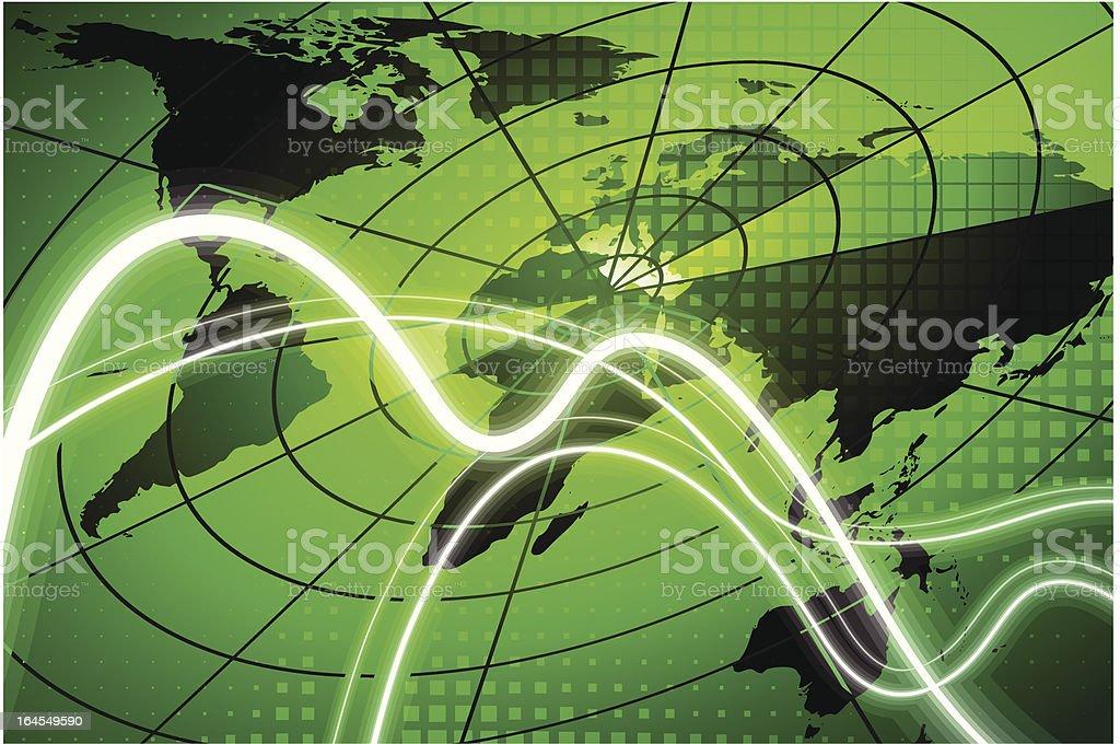 Global radar Background royalty-free stock vector art