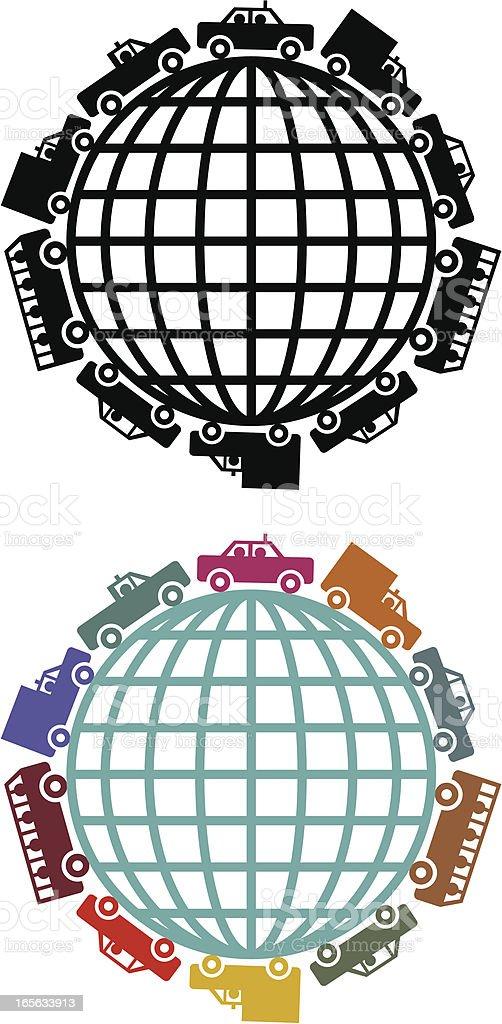 Global traffic royalty-free stock vector art
