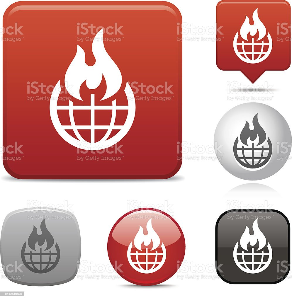 Global Warming icon royalty-free stock vector art