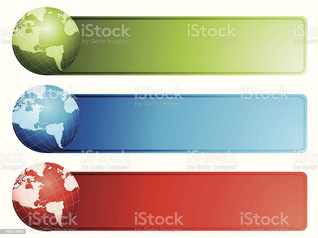 Globe banners royalty-free stock vector art