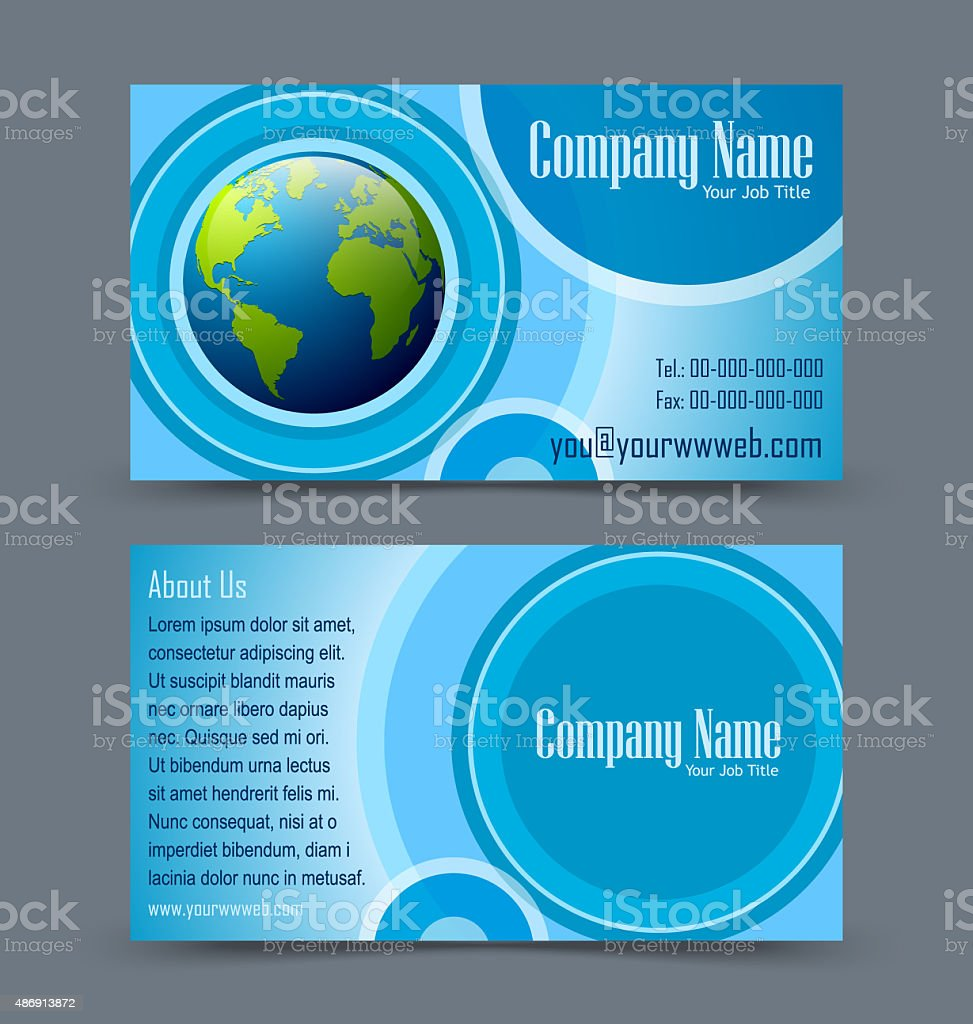 Globe Theme Business Card Stock Vector Art & More Images of 2015 ...