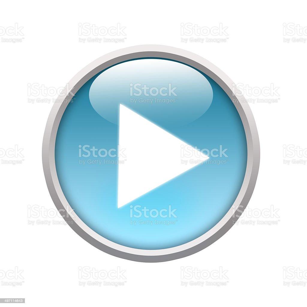 Bleu brillant jeu de boutons Web - Illustration vectorielle