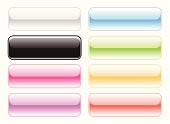 vector illustration of bright glossy web buttons for your action button designs.