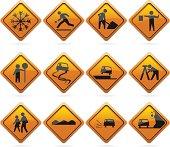 Glossy Diamond Road Signs