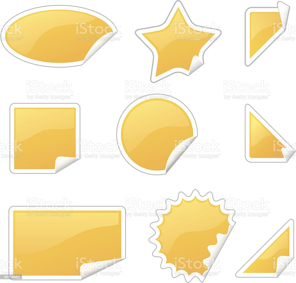 glossy labels set royalty-free stock vector art