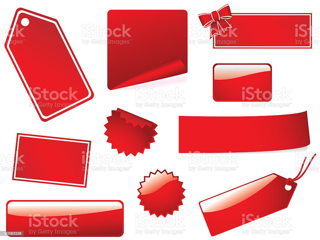 Glossy stickers and tags royalty-free stock vector art