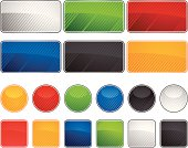 Vector illustration  glossy  web buttons