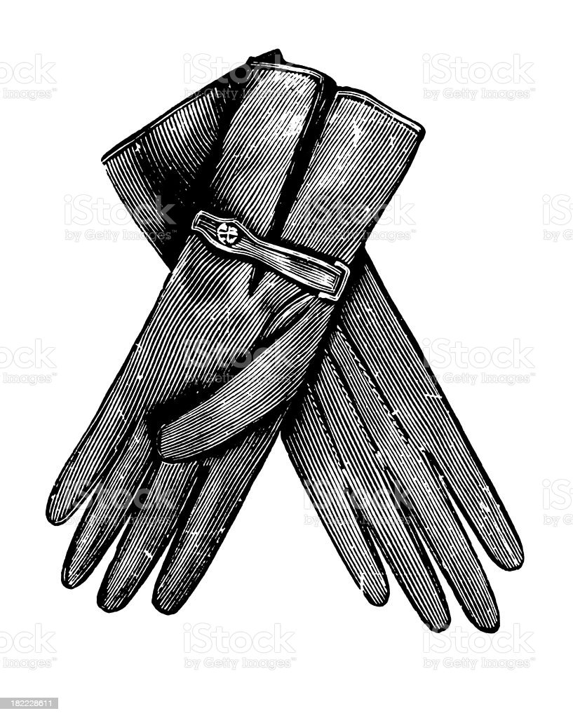 Gloves | Antique Design Illustrations royalty-free stock vector art
