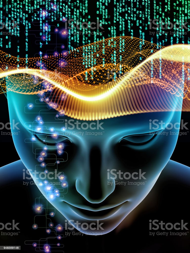 Glow of Consciousness vector art illustration